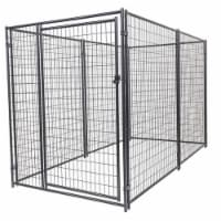 Lucky Dog Large Modular Welded Wire Box Indoor Outdoor Dog Kennel, 10x5x6 Feet