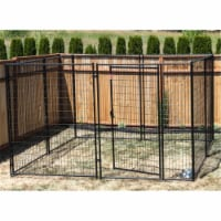 Lucky Dog Large Modular Welded Wire Indoor Outdoor Dog Kennel, 10 x 10 x 6 feet - 1 Unit