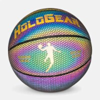 HoloGear HGMMBBP Holographic Glowing Reflective Leather Basketball, 29.5 Inch - 1 Piece