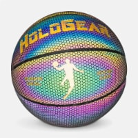 HoloGear HGWMBBP Holographic Glowing Reflective Leather Basketball, 28.5 Inch - 1 Piece