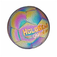 HoloGear Reflective Light Holographic Soccer Ball Football, Multicolor Glow - 1 Piece