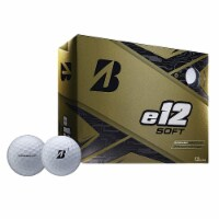 Bridgestone Golf Series e12 Soft 3-Piece Distance Golf Balls, White (1 Dozen)