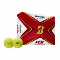 Bridgestone 2020 Tour B RX Reactive Urethane Distance Yellow Golf Balls, 1 Dozen