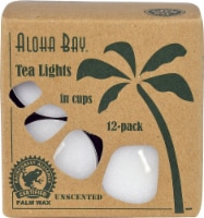 Aloha Bay Unscented Palm Wax Tealight Candles - White