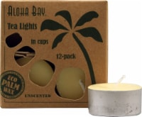 Aloha Bay Unscented Palm Wax Tealight Candles - Cream