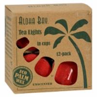 Aloha Bay - Tea Light - Red - 12/.7 oz - Pack of 3