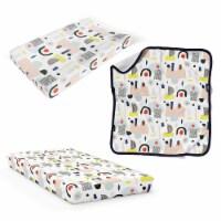 Goumikids 3 Piece Soft Organic Baby Nursery Crib Sheet Bedding Set, Dream Big - 1 Unit
