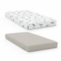 Goumikids 2 Piece Soft Baby Nursery Crib Fitted Sheet Bedding Set, Botanical - 1 Unit