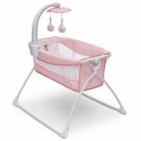 Delta Children Minnie Mouse Foldable Portable Bedside Activity Bassinet Crib