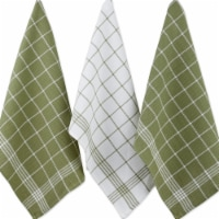 Design Imports 70074A Leaf Green Waffle Weave Dishtowel Set - Set of 6 - 1