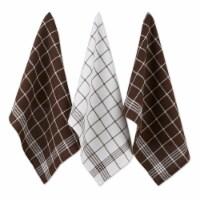 Design Imports 70190A Mocha Waffle Weave Dishtowel Set - Set of 6 - 1