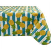 Design Imports 70358A 60 x 84 in. Pineapple Vinyl Tablecloth - 1