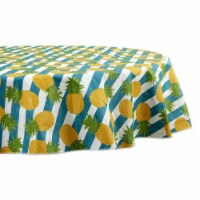 Design Imports 70360A 70 in. Round Pineapple Vinyl Tablecloth