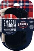 WavEnforcer Barber Series Smooth & Groom Military Brush & Beard Comb - 1 ct