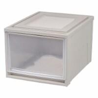 IRIS USA 43 Quart Secure Stackable Deep Box Storage Chest Drawer, Gray (3 Pack) - 1 Unit