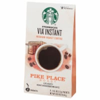 Starbucks Via Instant Pike Place Medium Roast Instant Coffee Packets 8 Count