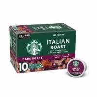 Starbucks Italian Roast Dark Roast Coffee K-Cup Pods 10 Count