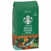 Starbucks Decaf House Blend Medium Roast Ground Coffee