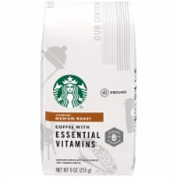 Starbucks Medium Roast Ground Coffee with Essential Vitamins