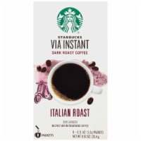 Starbucks Via Instant Italian Dark Roast Instant Coffee Packets 8 Count