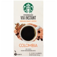 Starbucks Via Instant Colombia Medium Roast Instant Coffee Packets