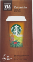 Starbucks VIA Columbia Coffee Single-Serve Packets - 12 ct