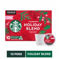 Starbucks Holiday Blend Medium Roast Coffee K-Cup Pods 10 Count