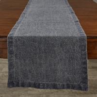 Split P Washed Linen Solid Table Runner - 60'' L - Blue