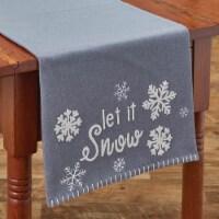 "Park Designs Let It Snow Felt Table Runner - 36""L - Gray"