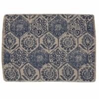 Split P Mosaic Tile Printed Placemats - Blue - 4 placemats