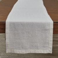 """Split P Bleach Linen Table Runner - 60""""L"""