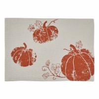 Split P Pumpkin Foil Printed Placemat Set - Off-White - 4 placemats
