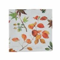 Split P Falling Leaves Napkin Set - White
