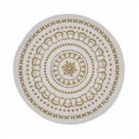 Split P Gold Medallion Round Printed Placemat Set - 4 placemats