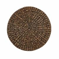 Split P Braided Hyacinth Round Placemat Set - Brown - 4 placemats
