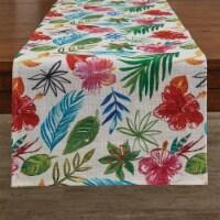Split P Tropical Paradise Table Runner  - 72''L - White