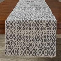 """Split P Diamond Print Table Runner - 72""""L - Slate"""