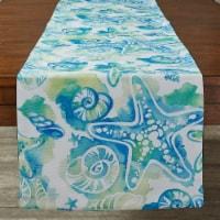 Split P Sealife Print Table Runner - 72''L - Blue