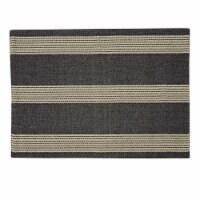 Split P Graphite Stripe Placemat Set - Gray - 4 placemats