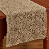 """Park Designs Lace Table Runner - 54""""L - Oatmeal"""