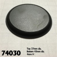 Reaper Miniatures REM74030 45mm Round Lipped Plastic Display Base - Set of 10