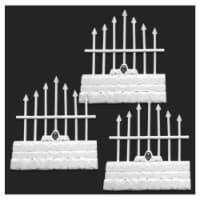 Reaper Miniatures REM77530 Bones - Graveyard Short Fences Miniatures - Set of 3