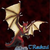 Reaper Miniatures REM77585 Bones T-Raukzul Heroic Scale Dragon Miniatures