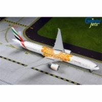 Gemini200 G2UAE800 Emirates 777-300ER 1-200 Orange Expo 2020 A6-Epo Model Airplane - 1