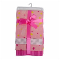 Bambini 3211P Receiving Blanket, Pink - Pack of 4