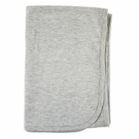 Heather Grey Cotton Receiving Blanket