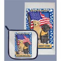 Pipsqueak Productions DP911PET Dog Dish Towel And Pot Holder Set