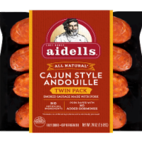 Aidells Cajun Style Andouille Smoked Pork Sausage Twin Pack - 8 ct / 24 oz