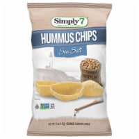 Simply7 Chickpea Hummus Chips, Sea Salt, 5 Ounce (Pack of 12) - 5
