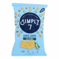 Simply 7 Lentil Chips - Jalapeno - Case of 12 - 4 oz. - Case of 12 - 4 OZ each